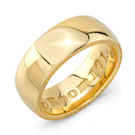 Plain 9mm 18K Gold Wedding Band