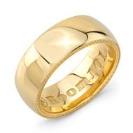 Plain 9mm 18K Gold Wedding Band