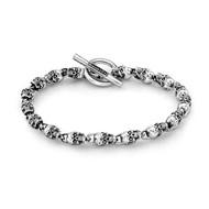 Men's Sterling Silver Mini Skull Bracelet