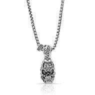 Silver Filigree Skull Necklace