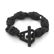 Black PVD Skull Link Bracelet