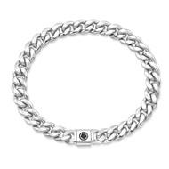 Small Sterling Silver Cuban Link Bracelet