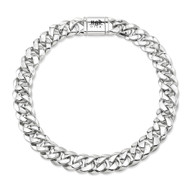 Large Sterling Silver Cuban Link Necklace