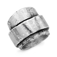 Distressed multi wrap ring