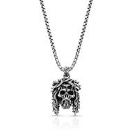 Chuey Quintanar Sterling Silver Jesus Skull pendant