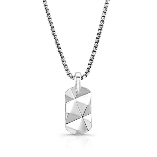 Sterling Silver Large Pyramid Dog Tag
