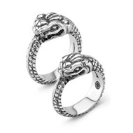 Large Snake ring in sterling silver