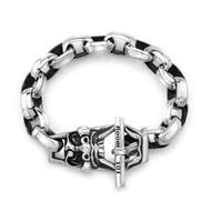 Large FU Toggled Bracelet in Sterling Silver