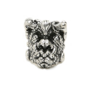 Shrunken Head Ring In sterling Silver