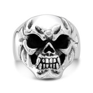 Sterling Silver 07 Mini Skull Ring /size 9