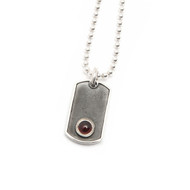 Sterling Silver Accent Pendant/Black onyx stone