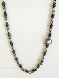 Sterling Silver Mini Filigree Skull Necklace 24 inch
