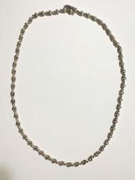 Sterling Silver Mini Skull link Necklace
