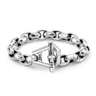 Sterling Silver Large  Octa Link Bracelet/8.5 inch