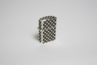 Sterling Silver Lighter Case  Checker Pattern