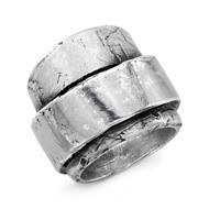 Sterling Silver Multi Wrap Distressed Ring/size 11
