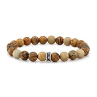 8 mm Frosted Agate Bead Bracelet
