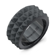 Black Titanium Multi Spike Ring /size 9