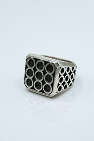 Sterling Silver Infinity Block Ring /size 11