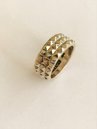 Sterling Silver Multi Spike Band /Size 10