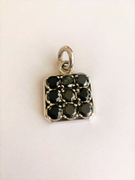 Sterling Silver Onyx Pendant Without Chain