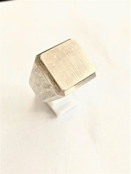 Sterling Silver Big Block Ring /size 14