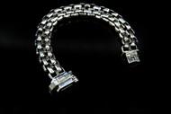 Sterling Silver Diesel Link Bracelet