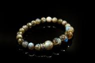 10 mm and 8 mm Labradorite Bead Bracelet