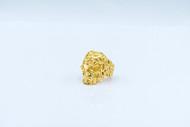 Filigree Skull Ring Gold Tone/ size 6.5