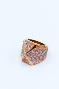 Rose Gold X1 Ring with Pink Pave /size 8