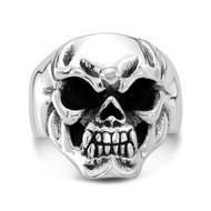 Sterling Silver 07 Mini Skull Ring /size 12