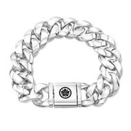 """9"""" Large Sterling Silver Cuban Link Bracelet"""