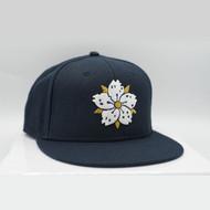 Navy Sakura Snapback