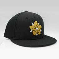 Pre-order Only - Black Gold w/ White Sakura Snapback