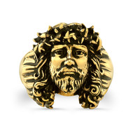 14K Gold Chuey Quintanar Jesus Ring