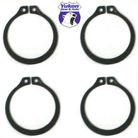 (4) Full Circle Snap Rings, fits Dana 60 733X U-Joint with aftermarket axle.