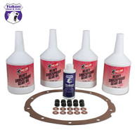 "Redline Synthetic Oil with additive, gasket and nuts, for 8"" Ford."