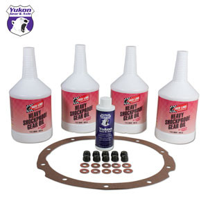 "Synthetic Oil with additive, gasket, nuts, and copper washer for 9"" Ford."