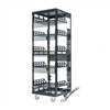 """Slim 5 Series Configured Rack, 29 RU, Rackrail Type 10-32, 19.125 Inch Width x 20 Inch Depth x 58.25 Inch Height, Steel, Black Powder Coat, Horizontal Mount"" (midatl_5-29-CONFIG)"