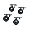 RACK CASTERS SET OF 4 FOR ANY SLIM 5 W/O MOUNTING HARDWARE (midatl_5W)