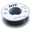 HOOK UP WIRE 300V STRANDED TYPE 24GAUGE BLACK 25 FEET (nte_WH24-00-25)
