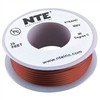HOOK UP WIRE 300V STRANDED TYPE 24GAUGE BROWN 25 FEET (nte_WH24-01-25)