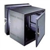 """18 SP. (31 1/2"") DATA WALL RACK WITH PLEXI DOOR, FITS 20"" DEEP EQUIP., BLACK FINISH"" (midatl_DWR-18-22PD)"