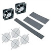 """2 Qty 4-1/2 Fans, Guards And Vent Blockers For 17 Deep Dwr Series, 190 Cfm Total (120 Vac) Cord Included"" (midatl_DWR-FK17)"