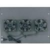 """ERK Series Integrated Fan Top, 19.75 Inch Width x 1.5 Inch Depth x 14.38 Inch Height, Steel, Black, 285 CFM"" (midatl_ERK-4FT-285CFM)"