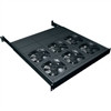 """FTA Series 1 Space Fan Tray With 6 Fans, 1 RU, 19 Inch Width x 18.1 Inch Depth x 1.75 Inch Height, Steel, Black Powder Coat, 414 CFM"" (midatl_FTA-6)"