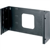 """6 Space (10-1/2) Hinged Panel Mount, 6 Deep, Black Finish"" (midatl_HPM-6)"
