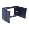 """6 Space (10-1/2) Hinged Panel Mount, 9 To 15 Adjustable Depth, Black Finish"" (midatl_HPM-6-915)"