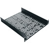 """1 Space Mount Shelf, 1 RU, 10.4 Inch Width x 11.5 Inch Depth x 1.75 Inch Height, Steel, Black Powder Coat"" (midatl_HR-UMS1-11.5)"