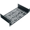 """1 Space Mount Shelf, 1 RU, 10.4 Inch Width x 5.5 Inch Depth x 1.75 Inch Height, Steel, Black Powder Coat"" (midatl_HR-UMS1-5.5)"